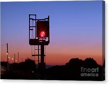 Red Railway Signal Canvas Print