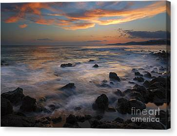 Red Sky Paradise Canvas Print by Mike Dawson