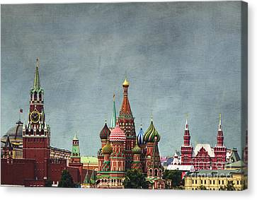 Red Square Moscow Canvas Print by Elena Nosyreva
