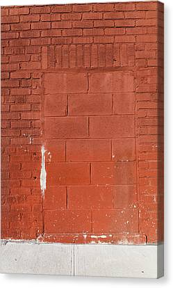 Red Wall With Immured Door Canvas Print