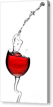 Red Wine Splash Canvas Print - Red Wine by Andreas Berheide