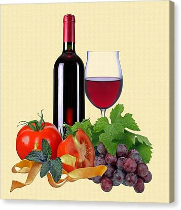 Red Wine Canvas Print by Manfred Lutzius