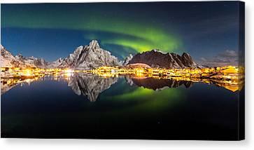 Reflected Aurora Canvas Print by Alex Conu