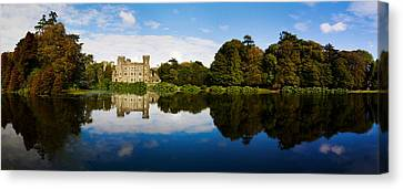 Reflection Of A Castle In Water Canvas Print by Panoramic Images