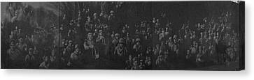 Korean War Memorial Canvas Print - Reflection Of Soldiers Statues by Panoramic Images