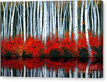 Canvas Print featuring the painting Reflections - Sold by Michael Swanson