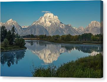 Reflections Of Mount Moran Canvas Print