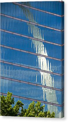 Reflections Of The St Louis Arch Canvas Print by Garry McMichael