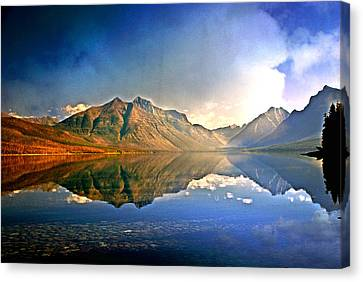 Canvas Print - Reflections On Lake Mcdonald by Marty Koch