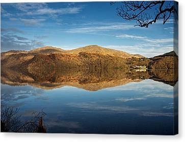 Reflections On Loch Lomond Canvas Print by Stephen Taylor