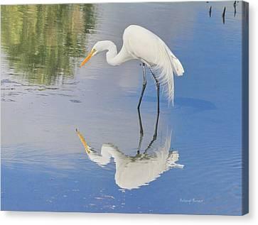 Reflective Pose Canvas Print