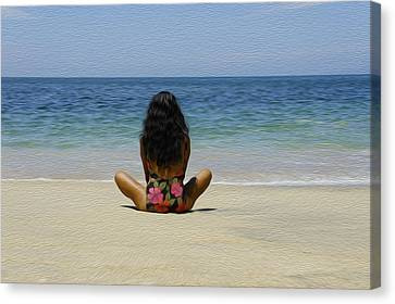 Spiritual Being Canvas Print - Relaxing by Aged Pixel