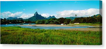 Rempart And Mamelles Peaks, Tamarin Canvas Print by Panoramic Images
