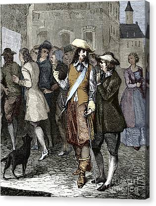 Rene Descartes And Isaac Beeckman Canvas Print by Sheila Terry