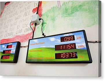Renewable Energy Readouts Canvas Print by Ashley Cooper
