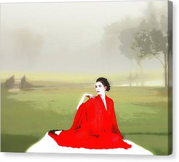 Repose In The Fog Canvas Print by Richard Hemingway