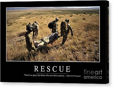 Rescue Inspirational Quote Canvas Print by Stocktrek Images