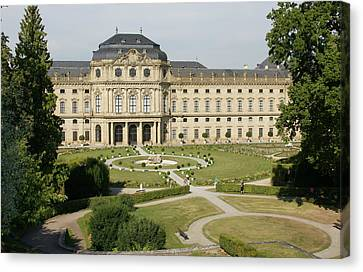 Canvas Print featuring the photograph Residenz Wurzburg  by Christian Zesewitz