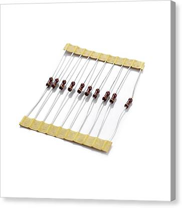 Resistors Canvas Print by Science Photo Library