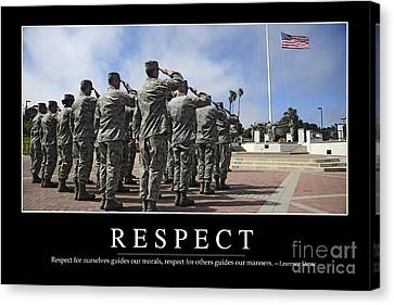 Respect Inspirational Quote Canvas Print by Stocktrek Images