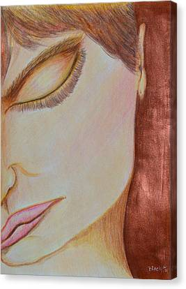 Face Canvas Print - Resting by Donna Blackhall