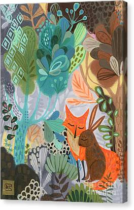 Jungle Animals Canvas Print - Restoration  by Kate Cosgrove