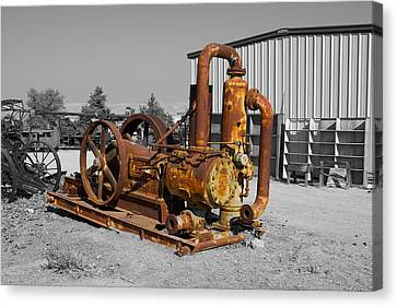 Retired Petroleum Pump Canvas Print
