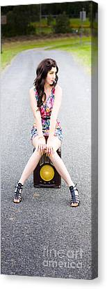Retro Communication And Media Canvas Print by Jorgo Photography - Wall Art Gallery