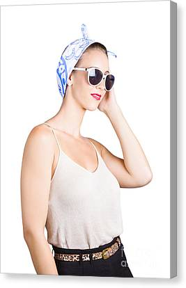 Retro Fashion Style Pin Up Lady Canvas Print by Jorgo Photography - Wall Art Gallery