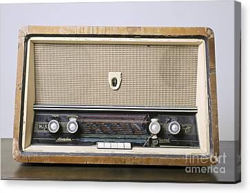 Retro Hi-fi Minerphon Radio Receiver Canvas Print by PhotoStock-Israel