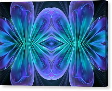 Rhapsody In Blue Canvas Print by Georgiana Romanovna