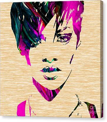Rihanna Canvas Print - Rhianna Collection by Marvin Blaine