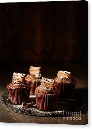 Rich Chocolate Cakes Canvas Print