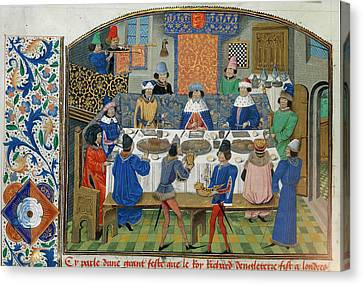 Richard II Dines With Dukes Canvas Print by British Library
