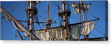 Rigging Of A Tall Ship, Finistere Canvas Print by Panoramic Images
