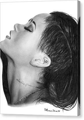 Rihanna  Canvas Print by Elisa Matarrese