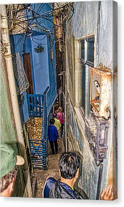 Rio De Janeiro Brazil - Favela Housing Canvas Print by Jon Berghoff