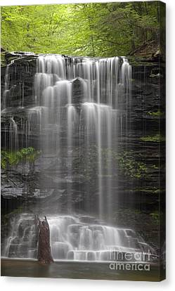 Rest In Peace Canvas Print - R.i.p. Weeping Wilderness Waterfall by John Stephens