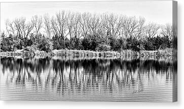 Canvas Print featuring the photograph Rippled Reflection by Bill Kesler
