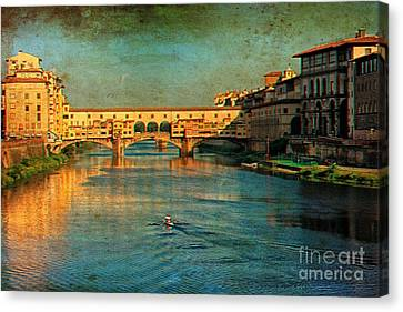 River Arno Canvas Print by Nicola Fiscarelli