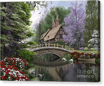 River Cottage Canvas Print by Dominic Davison