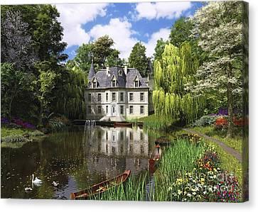 River Mansion Canvas Print by Dominic Davison