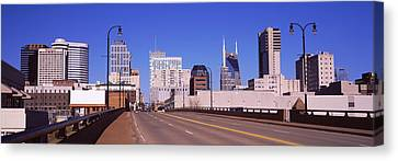 Downtown Nashville Canvas Print - Road Into Downtown Nashville by Panoramic Images