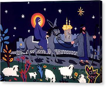 Road To Bethlehem Canvas Print by Joyce Gebauer