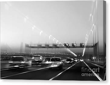 Trace Canvas Print - Road Traffic by Carlos Caetano