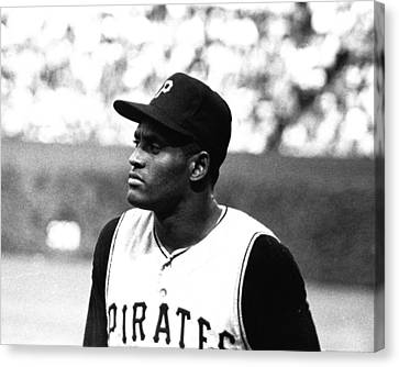 Puerto Rican Canvas Print - Roberto Clemente by Retro Images Archive