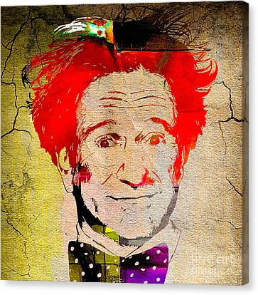 Robin Williams Art Canvas Print by Marvin Blaine