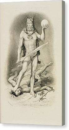Robinson Crusoe Canvas Print by British Library