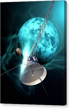 Robotic Probe In Deep Space Canvas Print by Victor Habbick Visions