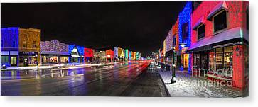 Rochester Michigan Christmas Lights Canvas Print